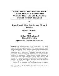 Ross Homel, Marg Hauritz and Richard Wortley Gillian McIlwain and ...