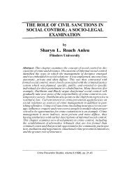 THE ROLE OF CIVIL SANCTIONS IN SOCIAL CONTROL: A SOCIO ...