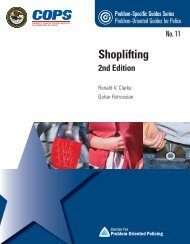 Shoplifting - Center for Problem-Oriented Policing
