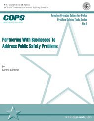 Partnering With Businesses To Address Public Safety Problems