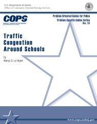 Traffic Congestion Around Schools - Cops - Department of Justice