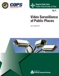Video Surveillance of Public Places - Center for Problem-Oriented ...