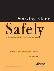 WHS - Working Alone Safely - DocuShare