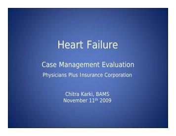 Chronic Illness Case Management Program Evaluation