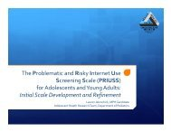 The Problematic and Risky Internet Use Screening Scale (PRIUSS ...