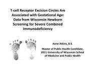 T-cell Receptor Excision Circles Are Associated with Gestational Age
