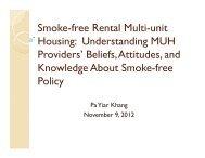 Smoke-free Rental Multi-unit Housing: Understanding MUH Providers