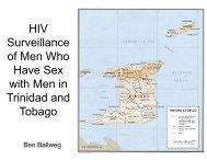 HIV Surveillance of Men Who Have Sex with Men in Trinidad and ...