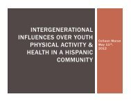 Intergenerational Influences Over Youth Physical Activity & Health