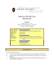 Course Outline and Weekly Assignments - Department of Population ...