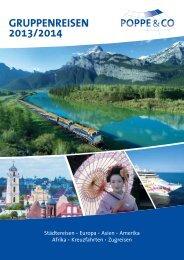 inhaltsverzeichnis gruppenreisen 2013/2014 - Poppe Reisen
