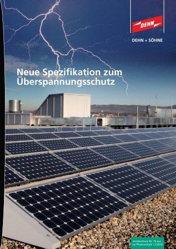 Neue Spezifikation zum Überspannungsschutz - Dehn + Söhne ...