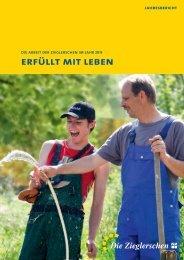Die Arbeit der Zieglerschen im Jahr 2013: Erfüllt mit Leben