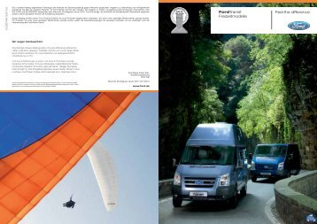 Feel the difference FordTransit Freizeitmodelle - Poptop Westfalia ...