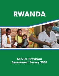 Rwanda Service Provision Assessment Survey 2007 - Population ...