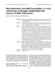 Risk behaviours and AIDS knowledge in a rural community of Senegal