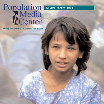 2003 Annual Report - Population Media Center