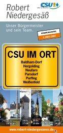 CSU im Ort - Csu-Ortsverband Vaterstetten-Parsdorf
