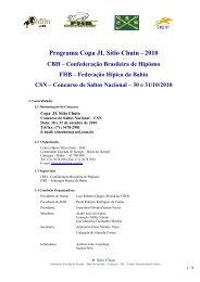 Programa do Evento - Por Fora das Pistas