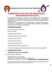 Sociedade Hípica de Campinas – São Paulo - Por Fora das Pistas