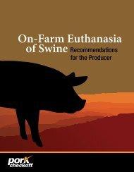 On-Farm Euthanasia - American Association of Swine Veterinarians