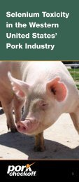 Selenium Toxicity in the Western United States' Pork Industry