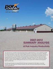 2007-2012 SUMMARY AnAlYSiS - National Pork Board