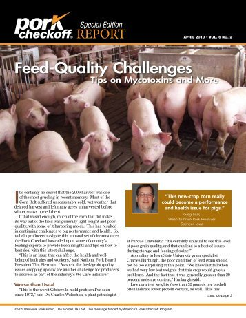 Feed-Quality Challenges - National Pork Board