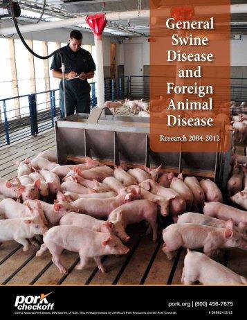 General Swine Disease and Foreign Animal Disease - National Pork ...