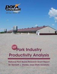 Pork Industry Productivity Analysis - National Pork Board
