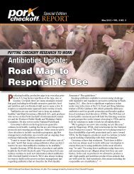 Road Map to Responsible Use - National Pork Board