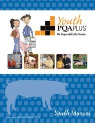Youth PQA Plus Manual - National Pork Board