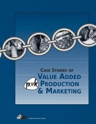 Case Studies of Value Added Production and Marketing