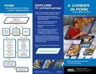 A CAREER IN PORK - National Pork Board