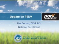 Update on PEDV - National Pork Board