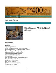 MEATBALLS AND SUNDAY GRAVY - PorkFoodService.Com