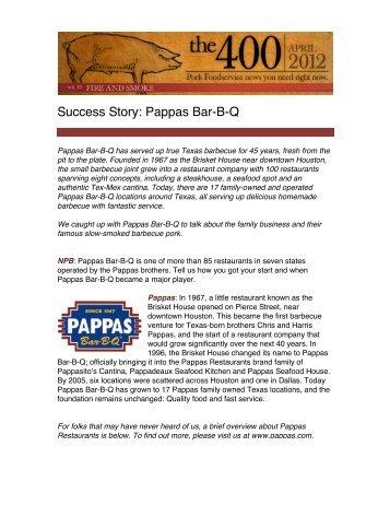 Success Story: Pappas Bar-B-Q - PorkFoodService.Com