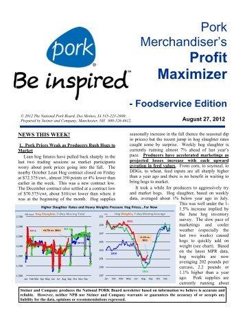 Pork Merchandiser's Profit Maximizer - PorkFoodService.Com