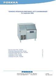 Teknisk spesifikasjon Migel KF2 (NO) 12-10-2009B