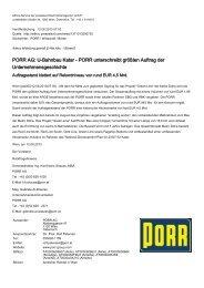 Ad-hoc-Meldung - PORR AG
