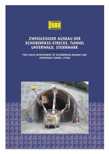 zweigleisiger ausbau der schoberpass-strecke, tunnel unterwald ...