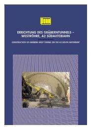 errichtung des gräberntunnels – weströhre, a2 südautobahn - Porr.rs