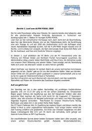 Bericht von Peter Bauegger - Rennsportverein Alpen Pokal