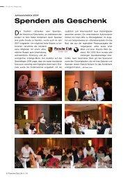Spenden als Geschenk - Porsche Club Deutschland