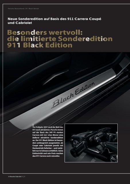 911 Black Sonderedition - Porsche Club Deutschland