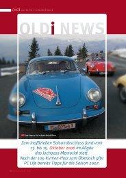 Oldtimer Jahresrückblick/Vorschau - Porsche Club Deutschland