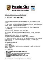 Fahrsicherheitstraining auf der Nordschleife für Jedermann/-frau am ...