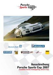 Ausschreibung lizenzfreie Serien - Porsche Club Deutschland