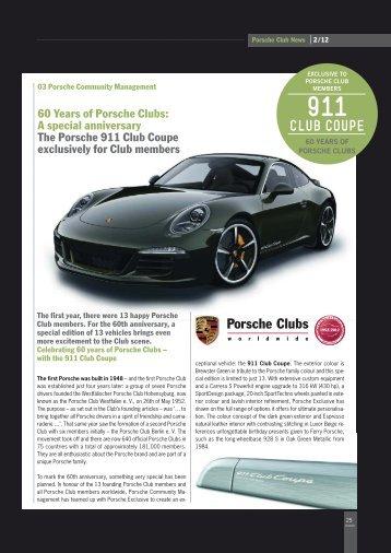 911 club coupe - Porsche Club Holland