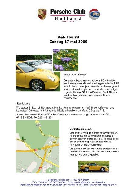 klik hier voor convocatie en inschrijfformulier Porsche